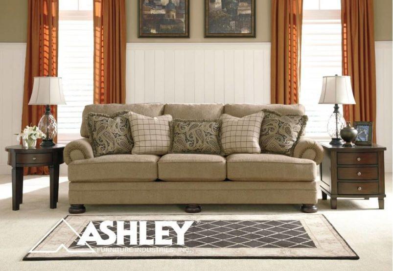 Κλασσικός Τριθέσιος Καναπές Ashley στο Χρώμα της Άμμου G-105041