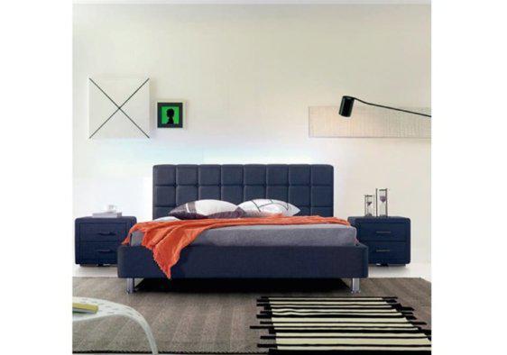 Όμορφο Κρεβάτι Ντυμένο με Ύφασμα V-050491