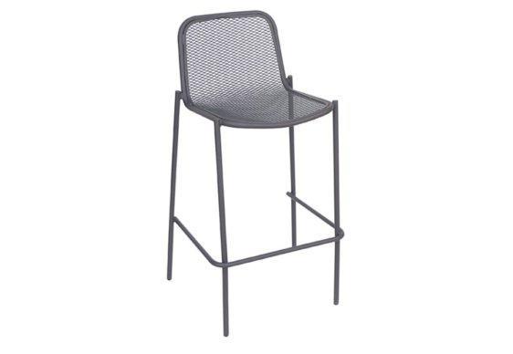 Μεταλλικό Σκαμπό με Πλεχτό Κάθισμα και Πλάτη Z-401109