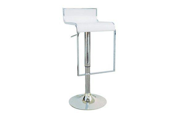 Σκαμπό για Μπαρ σε Λευκό Χρώμα με Υποπόδιο 401114