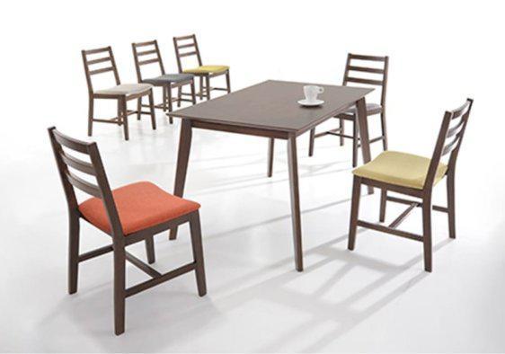 Τραπέζι Σετ από MDF με Πόδια από Ξύλο Οξιάς V-122083