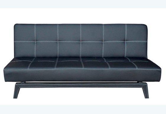Καναπές Κρεβάτι με Επένδυση από Δερματίνη σε Λευκό Χρώμα 105038