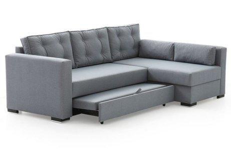 Γωνιακός Καναπές Κρεβάτι με Αποθηκευτικό Χώρο Φ-100099