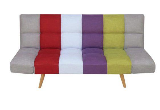 Τριθέσιος Καναπές Κρεβάτι με Πολύχρωμο Ύφασμα Z-105041