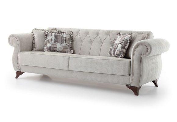 Υφασμάτινος Καναπές Κρεβάτι με Αποθηκευτικό Χώρο  Φ-105045