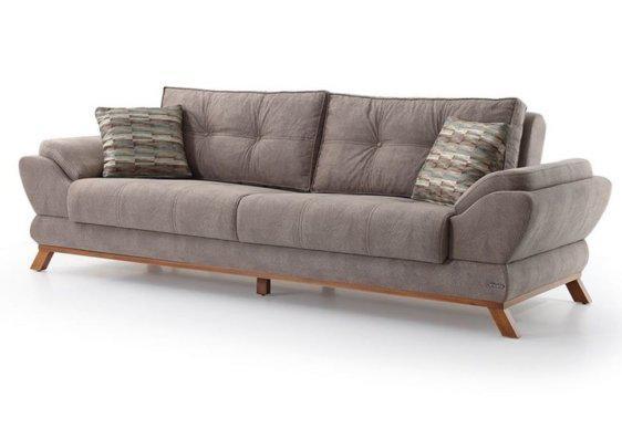 Μοντέρνος Καναπές Κρεβάτι με Ύφασμα σε Γκρι Χρώμα Φ-105048