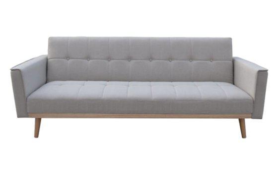 Καναπές Κρεβάτι από Ύφασμα με Διαχρονικό Στυλ σε Καφέ Χρώμα Ζ-105043