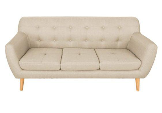 Τριθέσιος Καναπές με Κομψό Στυλ σε Μπεζ Χρώμα Ζ-110083