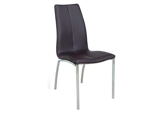 Καρέκλα με Ιδιάιτερο Σχέδιο από Δερματίνη σε Καφέ Χρώμα Ζ-190400