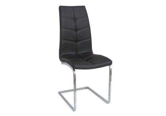 Άνετη Καρέκλα με Εντυπωσιακό Σχέδιο από Δερματίνη σε Καφέ Χρώμα Z-190406
