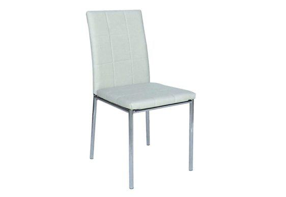 Όμορφη Καρέκλα από Δερματίνη σε Κρεμ Χρώμα Z-190404