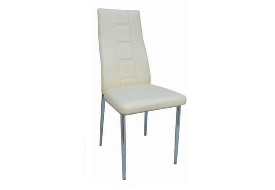 Μοντέρνα Καρέκλα με Όμορφο Σχέδιο σε Κρεμ Χρώμα Z-190397