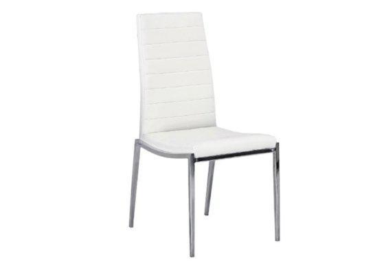 Αναπαυτική Καρέκλα από Δερματίνη σε Λευκό Χρώμα Z-190396