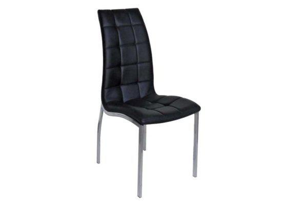 Άνετη Καρέκλα από Δερματίνη σε Μαύρο Χρώμα Z-190398