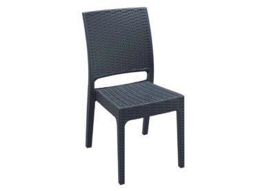 Πλεχτή Καρέκλα από Πολυπροπυλένιο και Fiber Glass σε Γκρι Χρώμα Z-222077