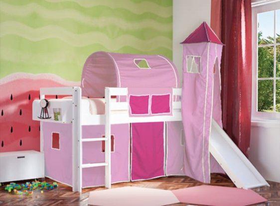 Κρεβάτι Playground με Τσουλήθρα Οξιά S-280050