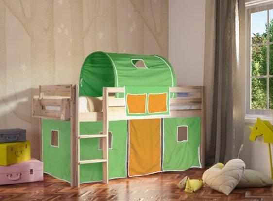 Υπερυψωμένο κρεβάτι χωρίς τσουλήθρα Πεύκο Sa280026