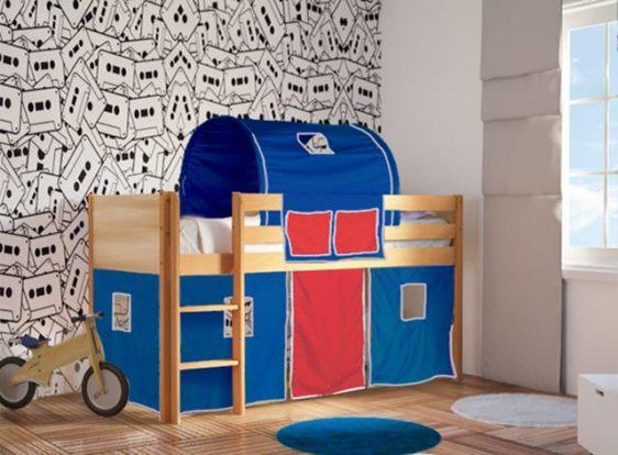 Ψηλό Παιδικό Κρεβάτι Με Βακελίτη και Οξιά S-280041