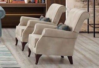 Αναπαυτική Πολυθρόνα με Βελούδινο Ύφασμα Φ-135150