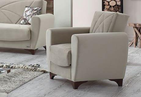 Κλασσική Πολυθρόνα  σε Γκρι Χρώμα Φ-135156