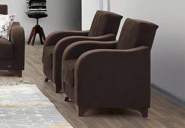 Παραδοσιακή Πολυθρόνα για το Σαλόνι σε Καφέ Χρώμα Φ-135155