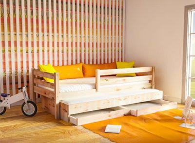 Καναπές-Κρεβάτι Με Συρόμενο Κρεβάτι Και Αποθηκευτικό Χώρο Πεύκο Sa- 280033