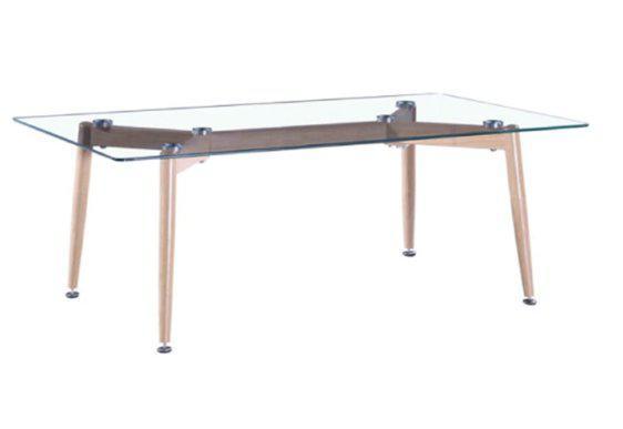 Τραπέζι για το Σαλόνι με Μεταλλικά Πόδια σε Χρώμα Ξύλου Ζ-120070