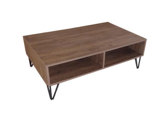Τραπέζι Σαλονιού με Μεταλλικά Πόδια Α-120061