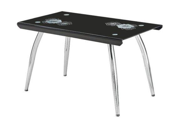 Γυάλινο Τραπέζι με Ιδιαίτερο Σχέδιο και Μεταλλικό Σκελετό 140226