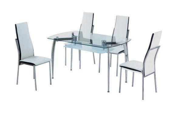 Τραπέζι με Διάφανο Γυαλί Ασφαλείας με Στρογγυλεμένες Γώνιες 140227