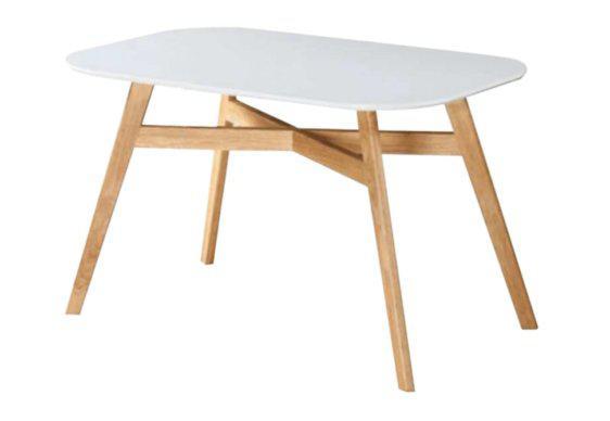 Τραπέζι από Ξύλο MDF με Καμπυλωτές Γωνίες σε Λευκό Χρώμα 122089