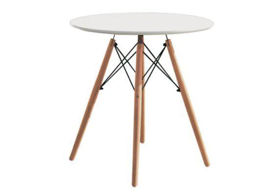 Στρογγυλό Τραπέζι με Επιφάνεια MDF και Πόδια από Ξύλο 040108