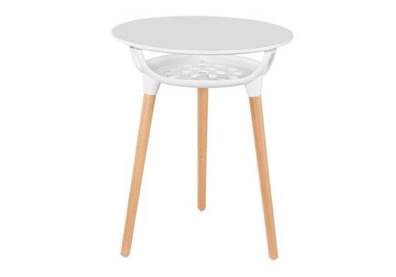 Στρογγυλό Τραπέζι με Επιφάνεια MDF και Ξύλινα Πόδια 122088