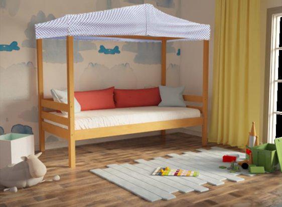 Παιδικός Καναπές με Δυνατότητα Αποθηκευτικού και Ουρανού Οξιά Sa-280056