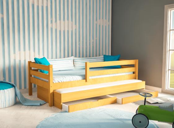 Καναπές με Συρόμενο Κρεβάτι και Συρτάρια Οξιά Sa-280057