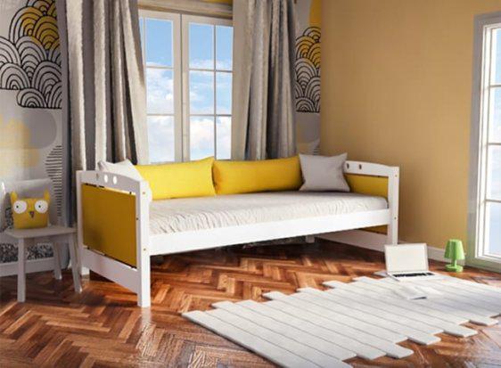 Καναπές Κρεβάτι με Διχρωμία και Ψηλά Μπράτσα Οξιά Sa-280054