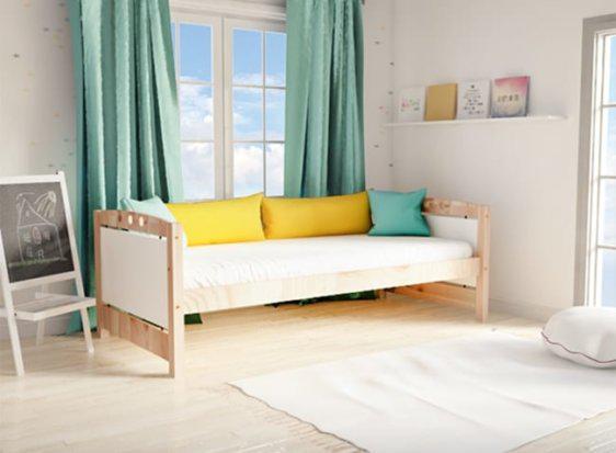 Country Καναπές Κρεβάτι Από Ξύλο Πεύκου Sa-280031