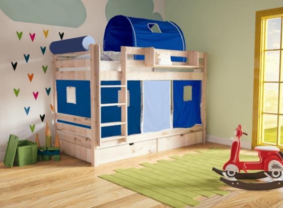 Ξύλινη Παιδική Κουκέτα Με Δυνατότητα Αποθηκευτικού Χώρου Πεύκο Sa-050617