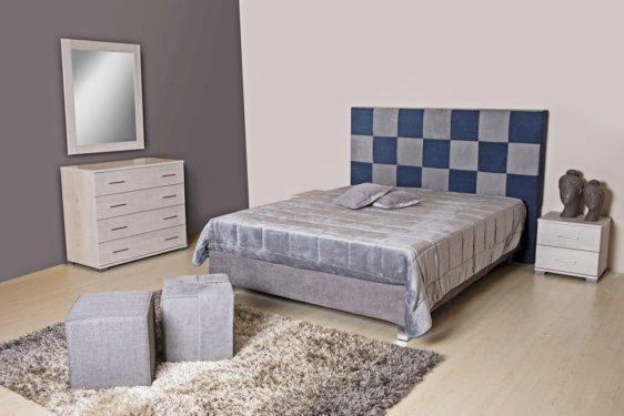 Διπλό Υπόστρωμα Κρεβατιού με Κεφαλάρι Σκακιέρα Α-050600