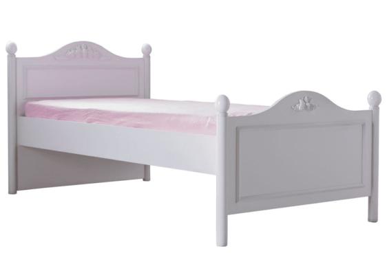 Κοριτσίστικο Λευκό Κρεβάτι με Σχέδιο Λουλούδι Siena Φ-280063