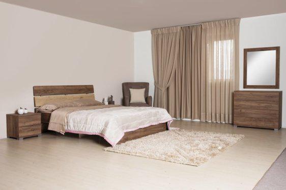 Καρυδί Κρεβάτι Με Κλίση στο Κεφαλάρι Α-050444