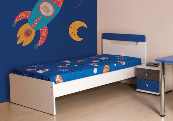 Παιδικό Κρεβάτι Space Μονό και Ημίδιπλο Α-050701