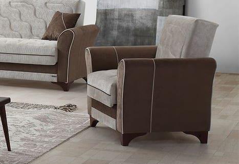 Αναπαυτική Πολυθρόνα σε Καφέ και Γκρι Χρώμα Φ-135159