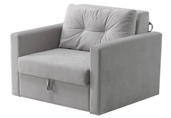 Πολυθρόνα Κρεβάτι Μοντέρνα σε Γκρι Χρώμα Φ-135163