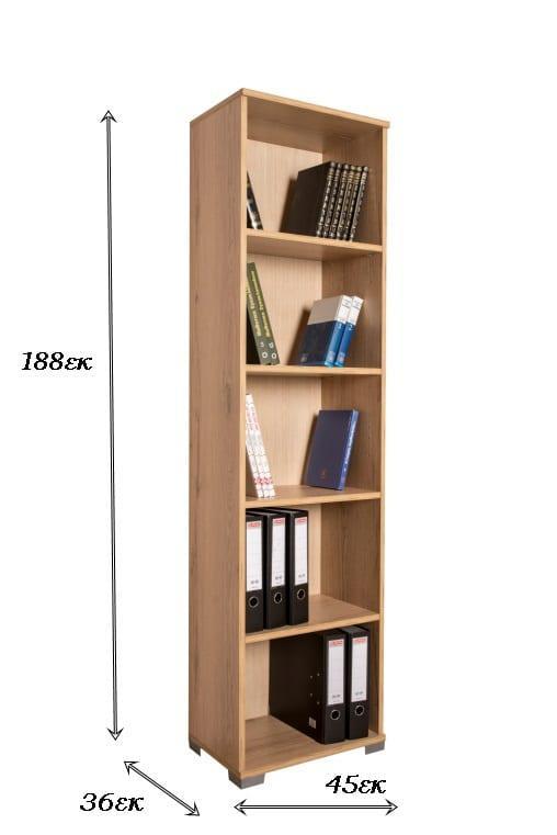 Βιβλιοθήκη με Ραφιέρα και Γραφείο Α-124078