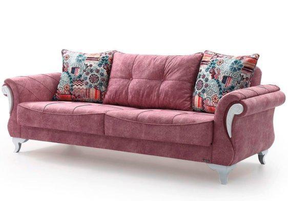 Country Τριθέσιος Καναπές Κρεβάτι Λευκός Φ-105078