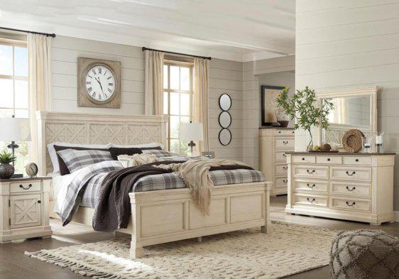 Σετ Υπέρδιπλο Ξύλινο Κρεβάτι Ashley με Δύο Κομοδίνα G-050501