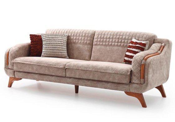 Καναπές Κρεβάτι με Ξύλινα Στοιχεία Προμηθέας Φ-105070