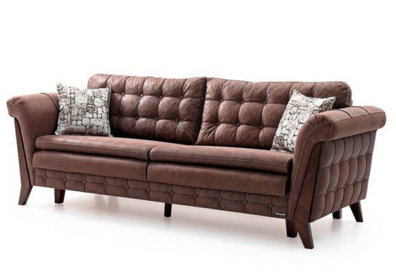 Καναπές Τριών Θέσεων με Μαξιλάρες και Μπαούλο Φ-105064