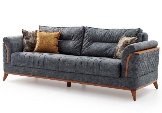 Καναπές - Κρεβάτι με Ύφασμα και Ξύλο Φ-105067